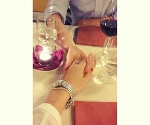 candle, couple, and dinner image
