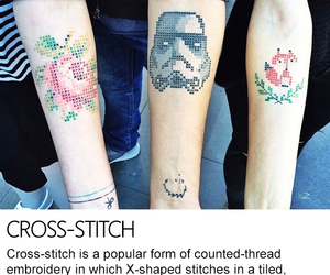 cross-stitch, embroidery, and stitch image