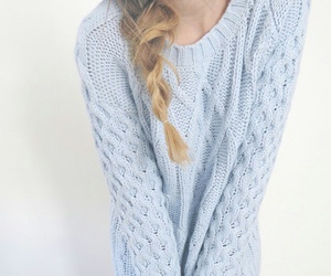 sweater, fashion, and blue image