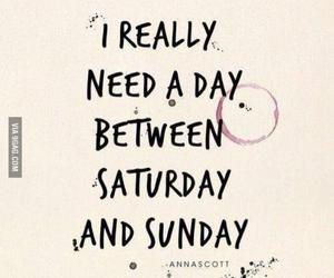 Sunday, saturday, and quotes image