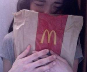 girl, pale, and McDonalds image