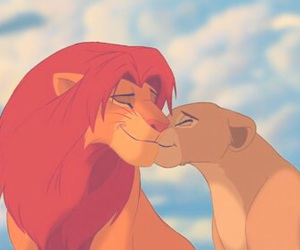 disney, kiss, and lion king image