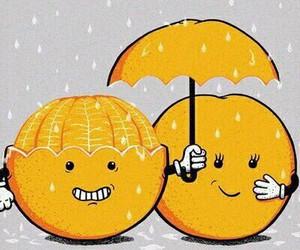 love, orange, and rain image