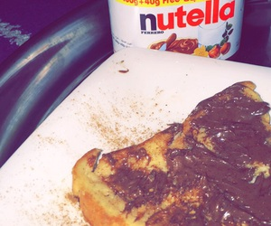 breakfast, nutella, and snapchat image