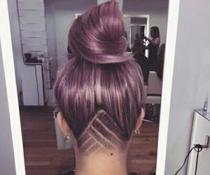 bun, hair, and grunge image