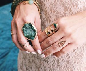 accessories, green, and bracelets image