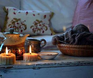 candles, decor, and winter image