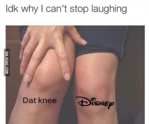 disney, funny, and knees image