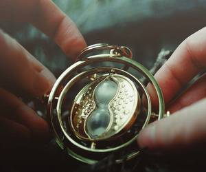 harry potter, hermione, and timeturner image