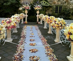 day, decoration, and flowers image