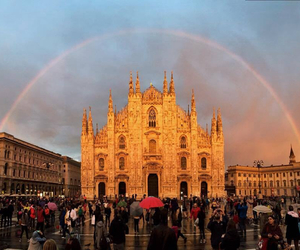 italy, milan, and rainbow image
