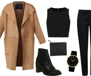 outfit, black, and coat image