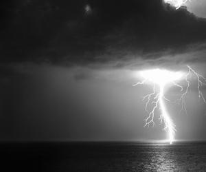 sea, sky, and storm image