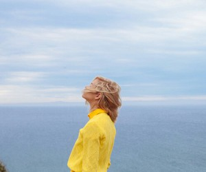 yellow, sea, and blonde image