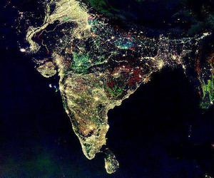 india, light, and night image
