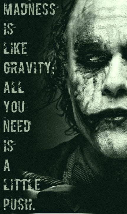 Joker quotes- Madness shared by Lisi on We Heart It