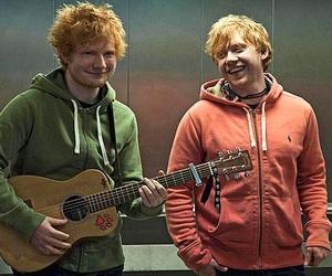 ed sheeran, rupert grint, and lego house image