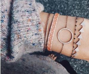 bracelets, fashion, and hipster image