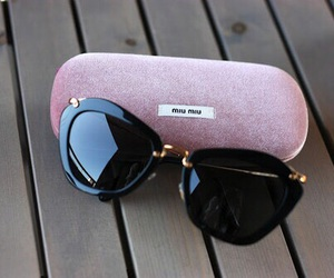 fashion, sunglasses, and miu miu image