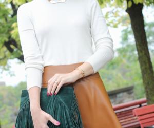brown, fall, and skirt image