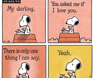 snoopy, love, and peanuts image