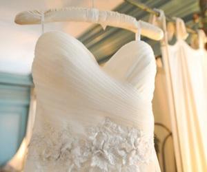 wedding dress, girl, and love image