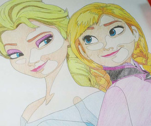 drawing, frozen, and coloring page image
