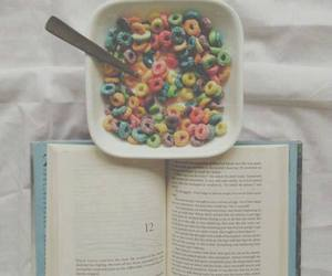 book, cereal, and food image