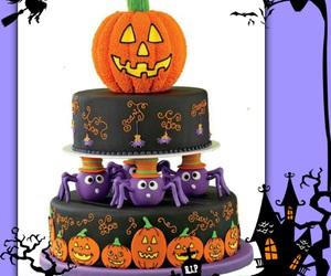 cake, Halloween, and sweet image