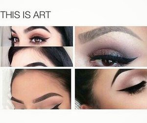 makeup, art, and girl image