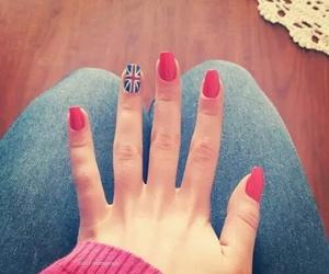 blue, nail polish, and red image