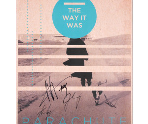 parachute, poster, and signed image