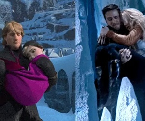 once upon a time, frozen, and love image