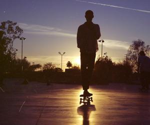 boy, skate, and sunset image