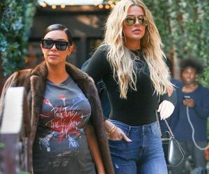 kim kardashian, street style, and khloe kardashian image