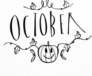 october, Halloween, and leaves image