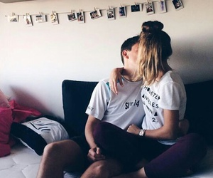 couple, pareja, and love image
