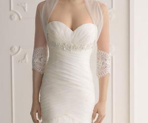 girl and wedding dress image