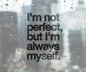 myself, quotes, and rain image