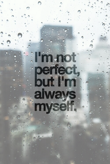 myself, quotes, and rain image