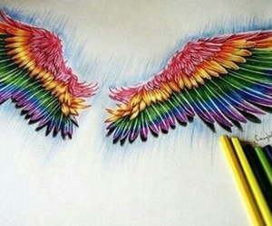 wings, drawing, and art image