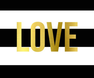 love, gold, and wallpaper image