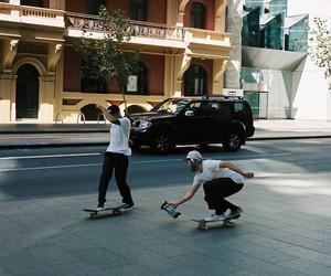 skate, skater, and skateboard image