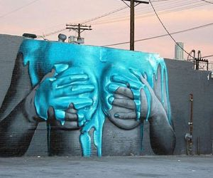blue, Nude, and street art image