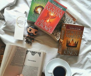 books, not mine, and game of thrones image