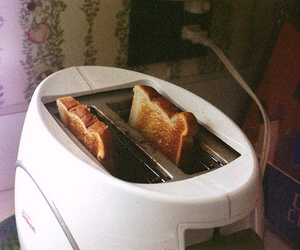 food, toast, and vintage image