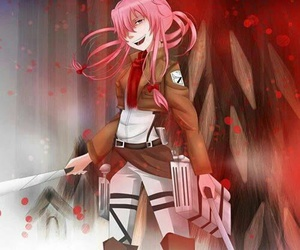 mirai nikki, yuno gasai, and anime image