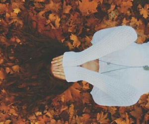 fall, autumn, and girl image