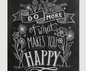 handlettering, happiness, and chalkboard art image