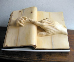 art, book, and wood image
